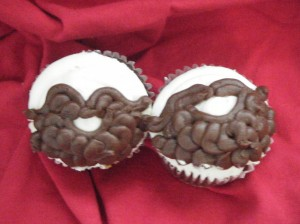 beard cupcakes